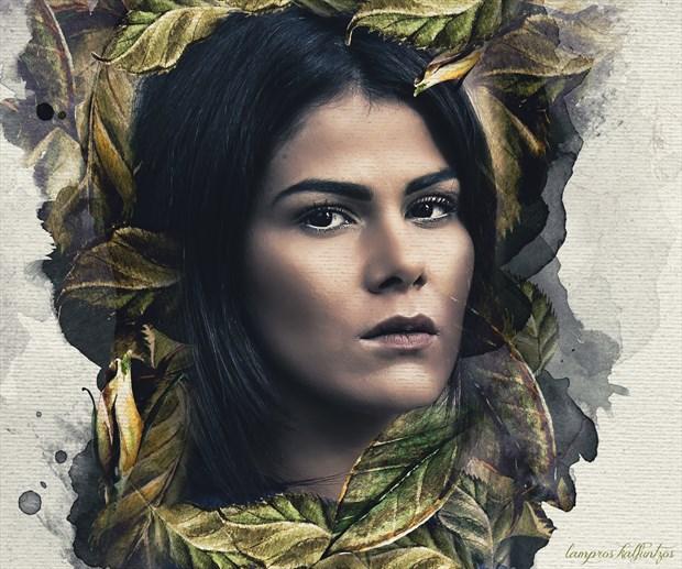 Brazilian beauty Fantasy Artwork print by Artist 3ddream