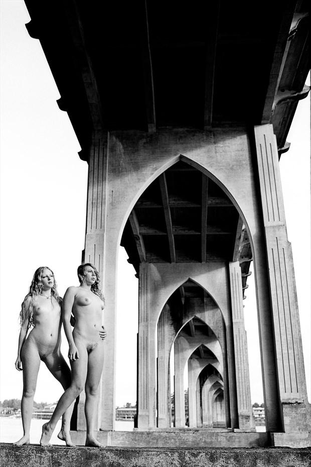 Bridge2 2 Artistic Nude Photo print by Photographer Joe Klune Fine Art