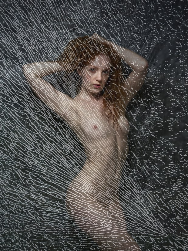 Broken Glass Artistic Nude Photo print by Photographer Ray Kirby