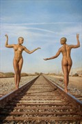 Building railroads Artistic Nude Photo print by Photographer balm in Gilead