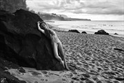 By the Ocean Artistic Nude Artwork print by Photographer Thom Peters Photog