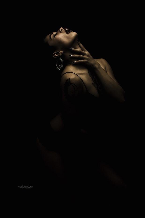 Chiaroscuro Alternative Model Artwork print by Photographer ResolutionOneImaging