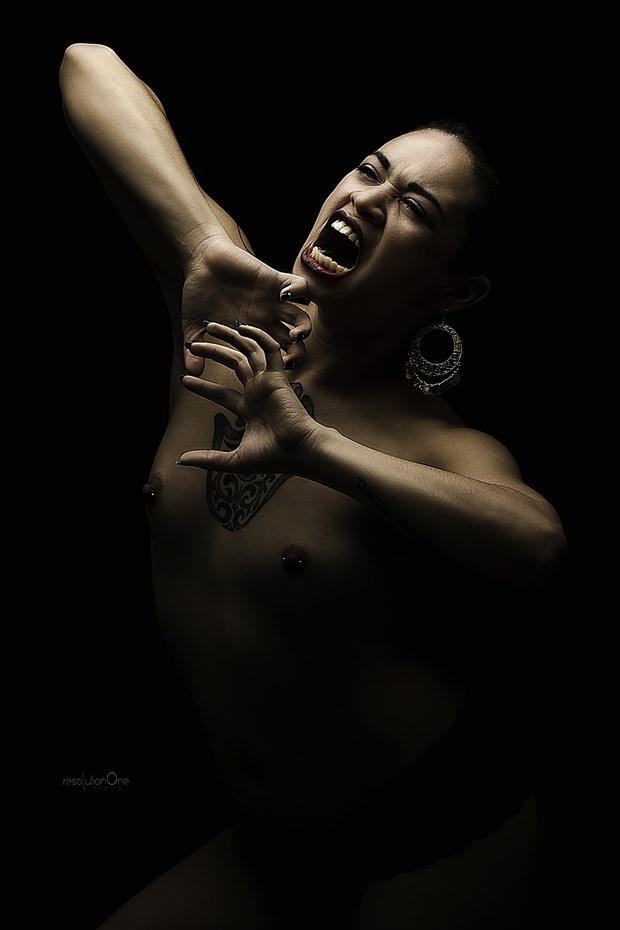 Chiaroscuro Implied Nude Photo print by Photographer ResolutionOneImaging
