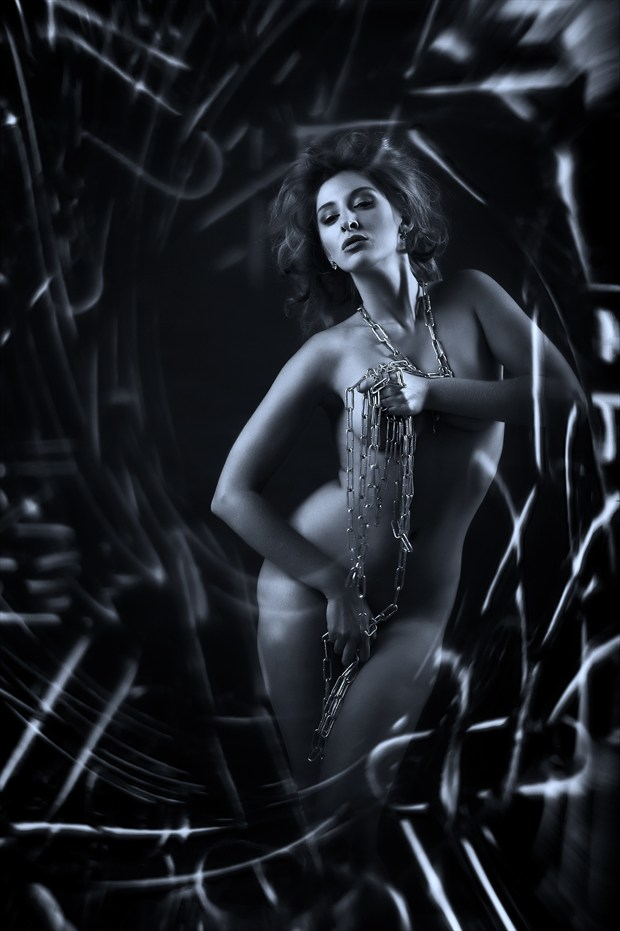 Chira in chains Artistic Nude Photo print by Photographer Ray Kirby