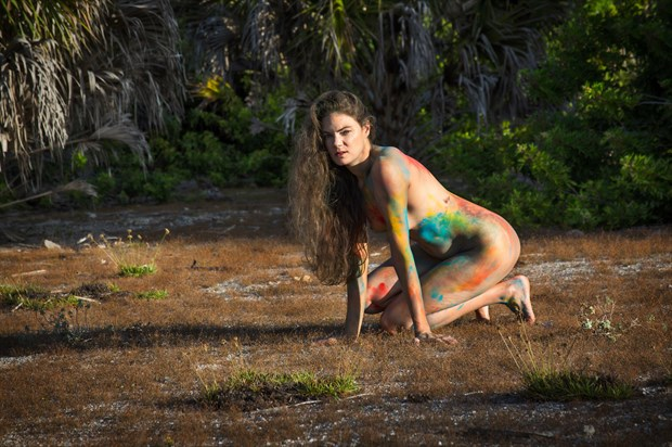 Colorful Morning Artistic Nude Photo print by Photographer Chris Gursky