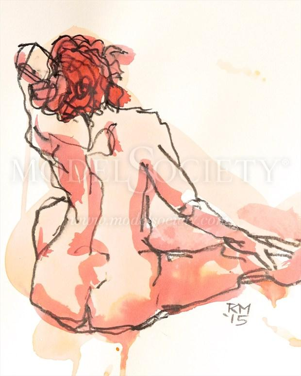 Coral Days Artistic Nude Artwork print by Artist Rob MacGillivray