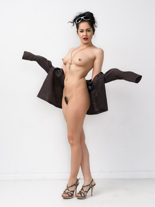 Cross Artistic Nude Photo print by Photographer Bruce M Walker