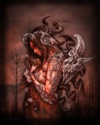 Cthluhu Princess (canvas) Fantasy Artwork print by Artist David Bollt
