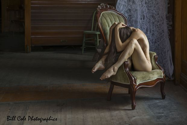 Dakota in her chair Sensual Photo print by Photographer Bill Cole
