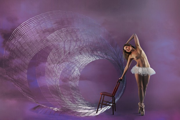 Dancer and Spiral Artistic Nude Photo print by Photographer Ray Kirby