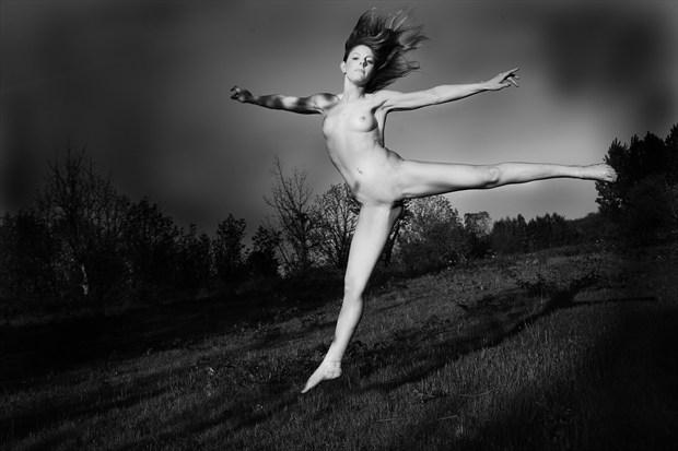 Dancing in the shadows Artistic Nude Photo print by Photographer Joe Klune Fine Art