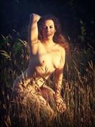 Dappled Dawn Light Artistic Nude Photo print by Artist AnneDeLion