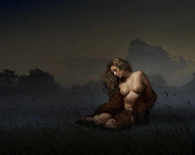 Dark morning Artistic Nude Photo print by Photographer Ray Kirby