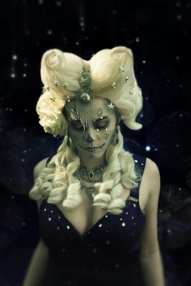 Dead Moon Surreal Artwork print by Model AtenaMy
