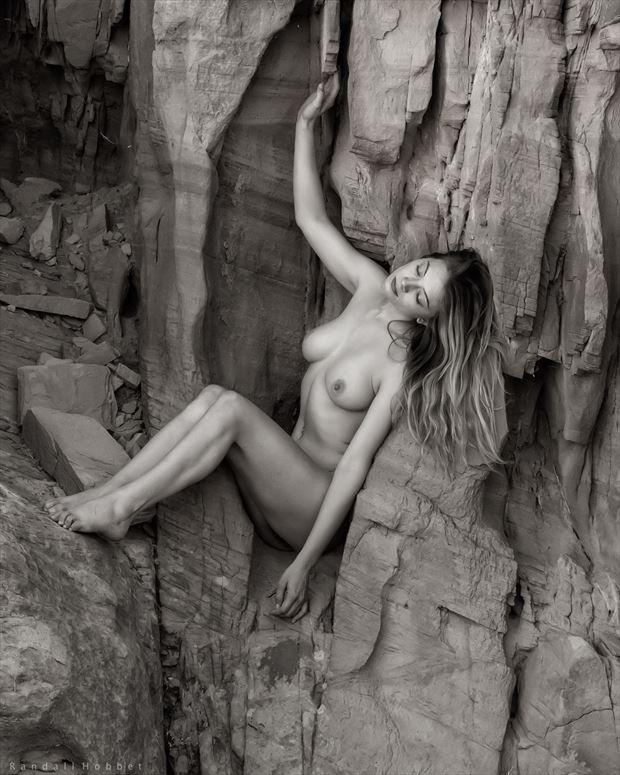Desert Oread Artistic Nude Photo print by Photographer Randall Hobbet
