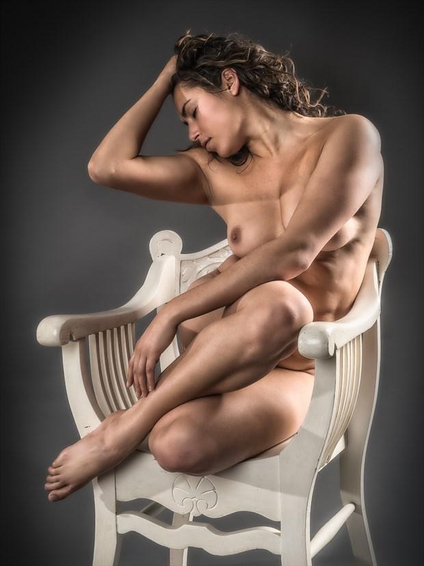 Desk Chair Artistic Nude Photo print by Photographer rick jolson