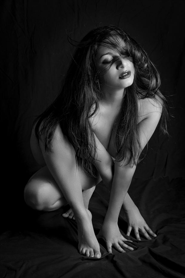 Devi in The Studio Artistic Nude Photo print by Photographer Philip Turner