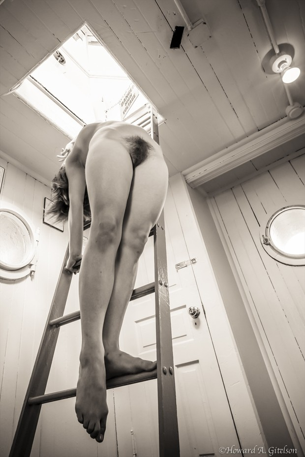 Edit P in the Lighthouse Artistic Nude Photo print by Photographer HGitel