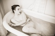 Edith P in the tub Artistic Nude Photo print by Photographer HGitel