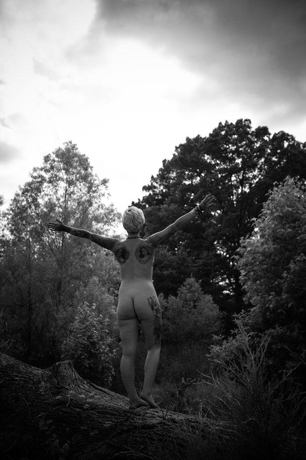 Embracing nature Artistic Nude Photo print by Photographer Frisson Art