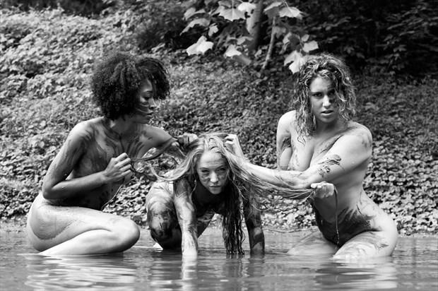 Emerged of Mud Implied Nude Photo print by Model Reece de la Tierra