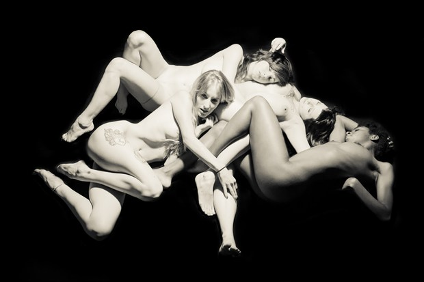 Endira, Sasha, Mo and Mandi Artistic Nude Photo print by Artist Freddie Graves