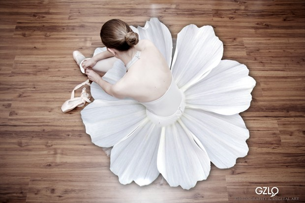 FLOWER DANCER Surreal Photo print by Artist GonZaLo Villar