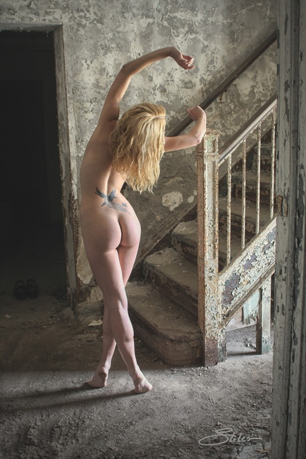 Factory Staircase Artistic Nude Photo print by Artist Kevin Stiles
