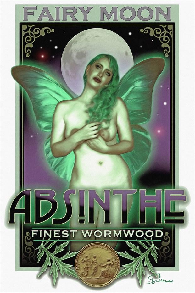 Fairy Moon Absinthe Artistic Nude Artwork print by Artist Van Evan Fuller