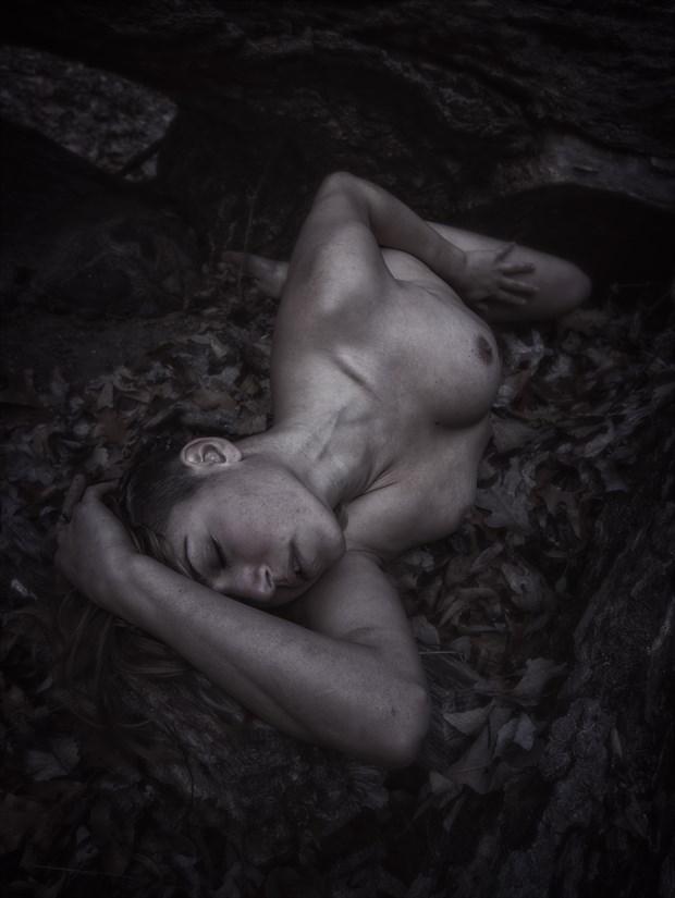 Fallen Angel Artistic Nude Photo print by Model Reece de la Tierra