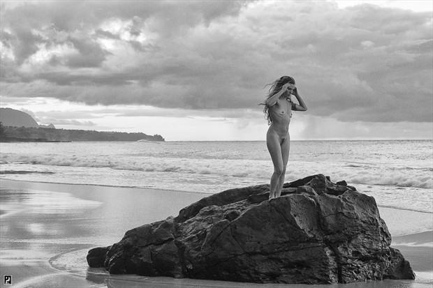 Far Off Rain Artistic Nude Artwork print by Photographer Thom Peters Photog