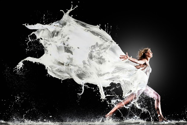Finish the Milk Fashion Artwork print by Photographer Edwin van Wijk