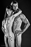 Fitness Models Artistic Nude Artwork print by Photographer Thom Peters Photog