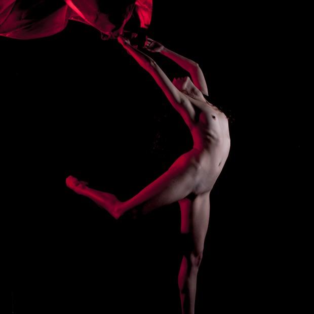 Flag Artistic Nude Photo print by Photographer Jakz