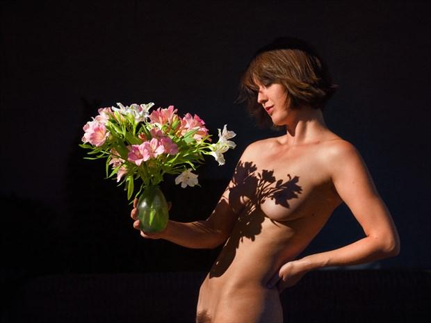 Flower power Artistic Nude Photo print by Photographer Bill Irwin