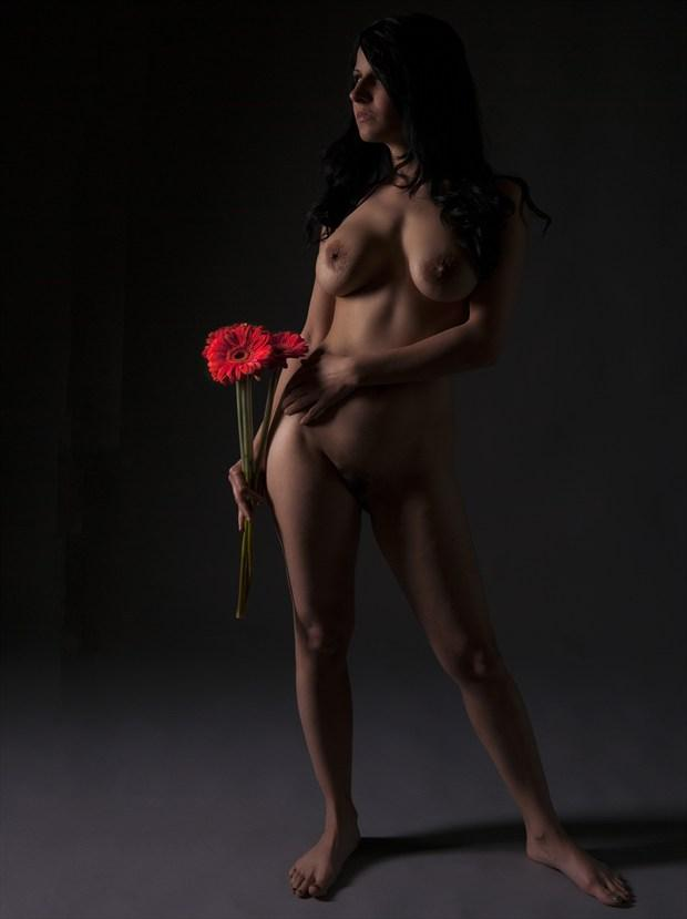 Flowers Artistic Nude Photo print by Photographer Tommy 2's