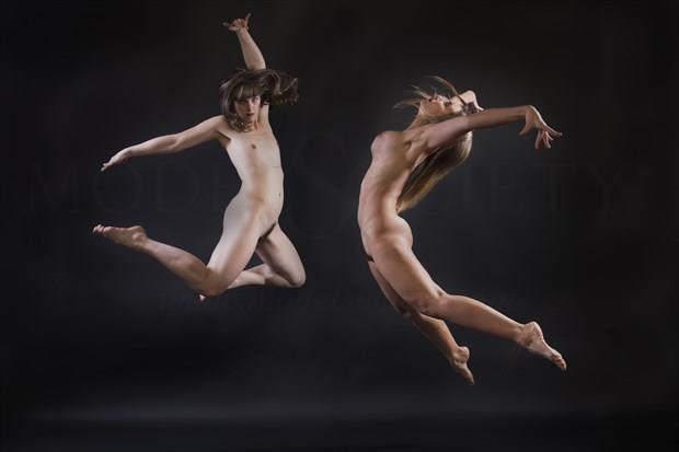 Flying together Artistic Nude Photo print by Photographer Tommy 2's