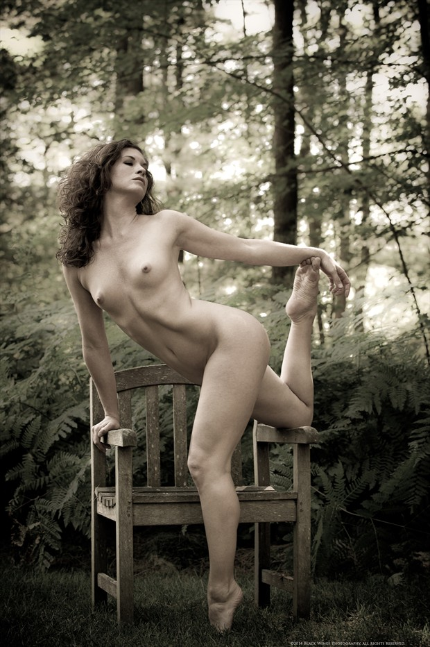 Garden dancer Artistic Nude Photo print by Photographer Black Wings