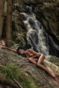 Gazelle at Buttermilk Falls Artistic Nude Photo print by Artist Kevin Stiles