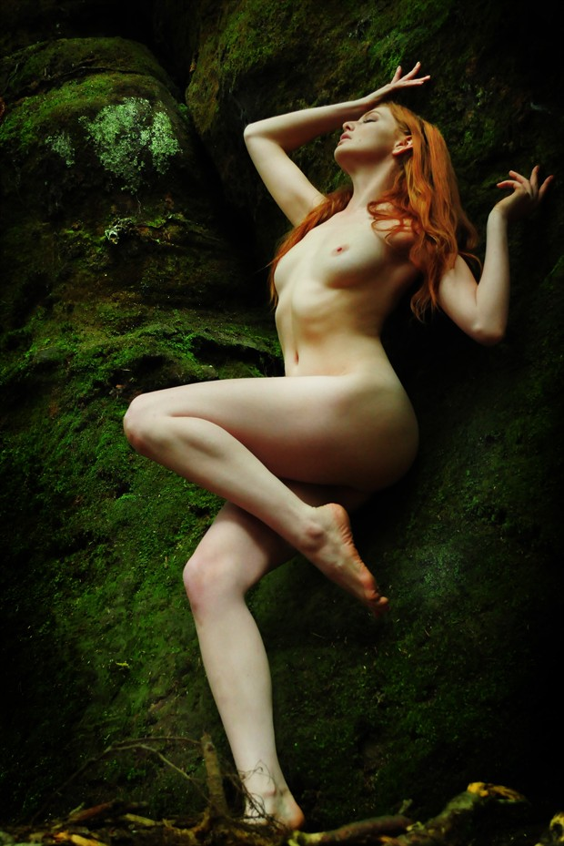 Ginger in the woods 3 Artistic Nude Photo print by Photographer JMAC
