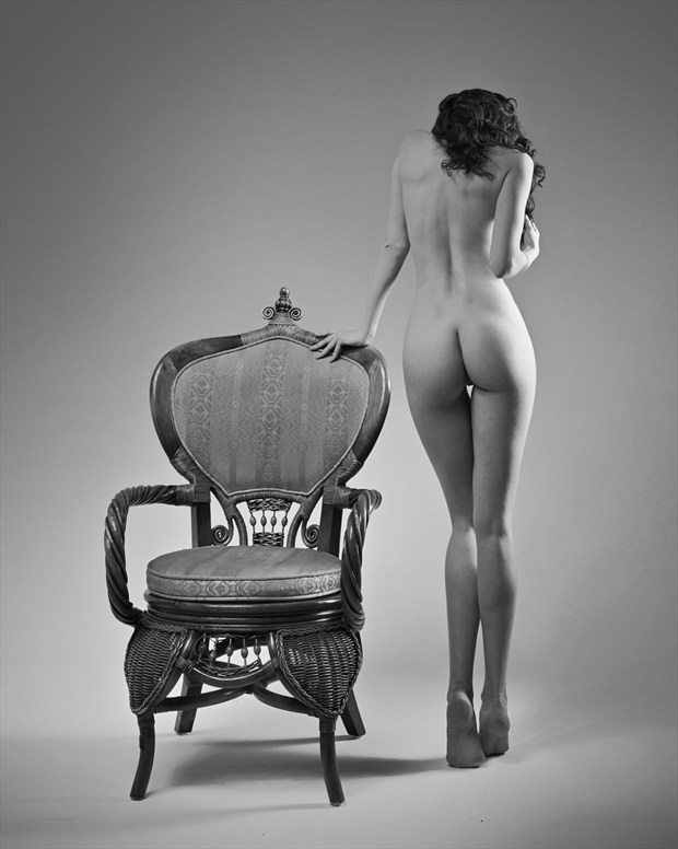 Girl With Chair Artistic Nude Photo print by Photographer Andrey Stanko