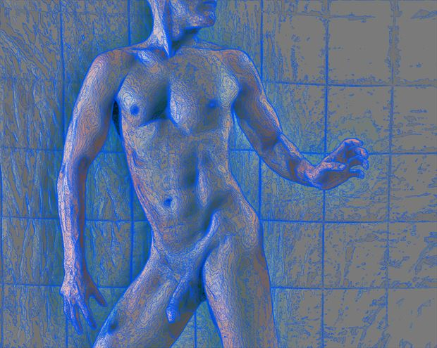 Gridify Artistic Nude Photo print by Model Avid Light