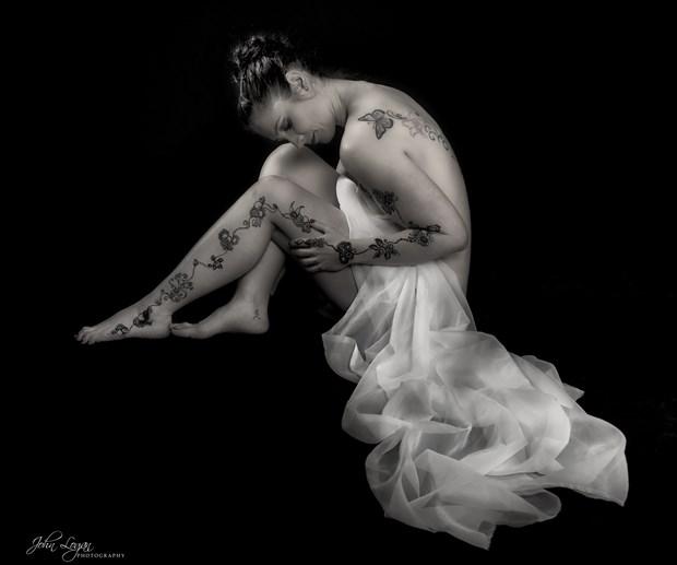 Henna Artistic Nude Photo print by Photographer John Logan