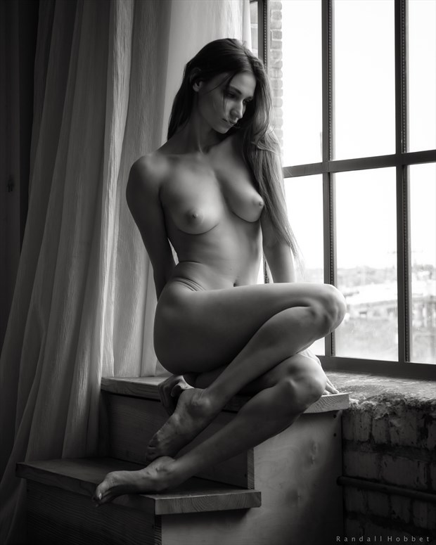 Ilvy by the Window Artistic Nude Photo print by Photographer Randall Hobbet