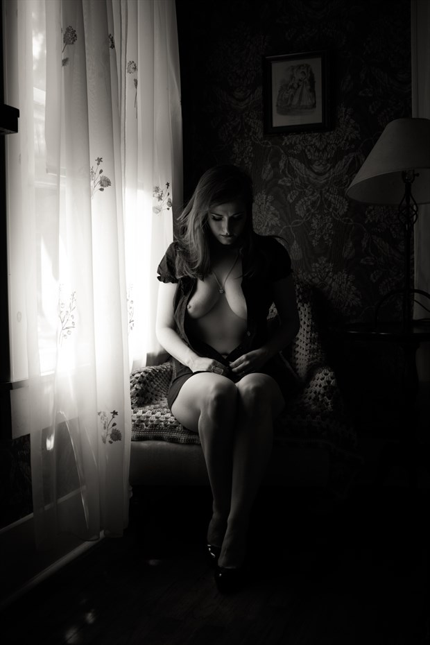 In her boudoir Natural Light Photo print by Photographer Frisson Art