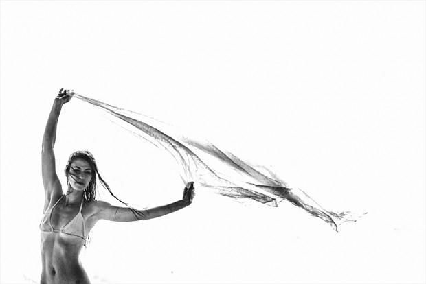 In the Wind Bikini Photo print by Photographer RobertS