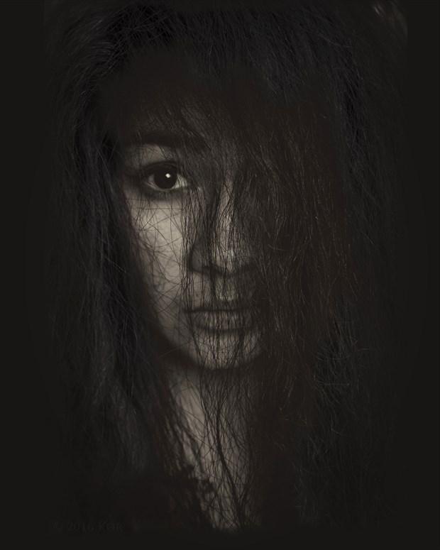 Intense gaze Portrait Photo print by Photographer Kor