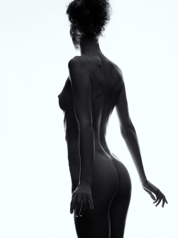 Into the light Artistic Nude Photo print by Photographer Bruce M Walker