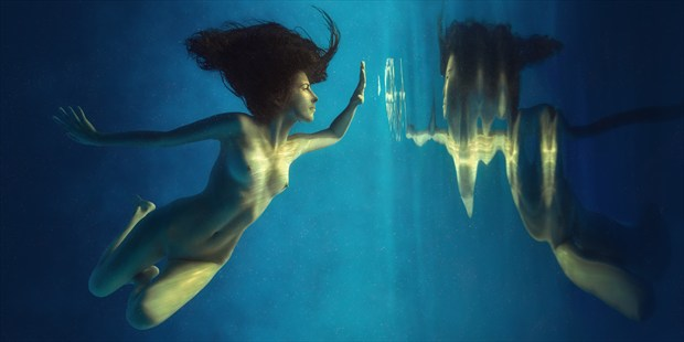 Inverted world Artistic Nude Photo print by Photographer dml
