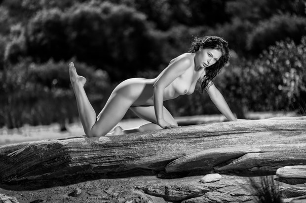 Ivana on a rock Artistic Nude Photo print by Photographer Stephen Wong